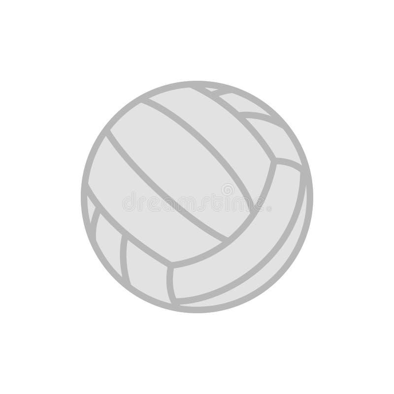 Siatkówki piłka Wektorowa ikona odizolowywająca na białym tle tenisowa piłka Płaska ilustracja ilustracji