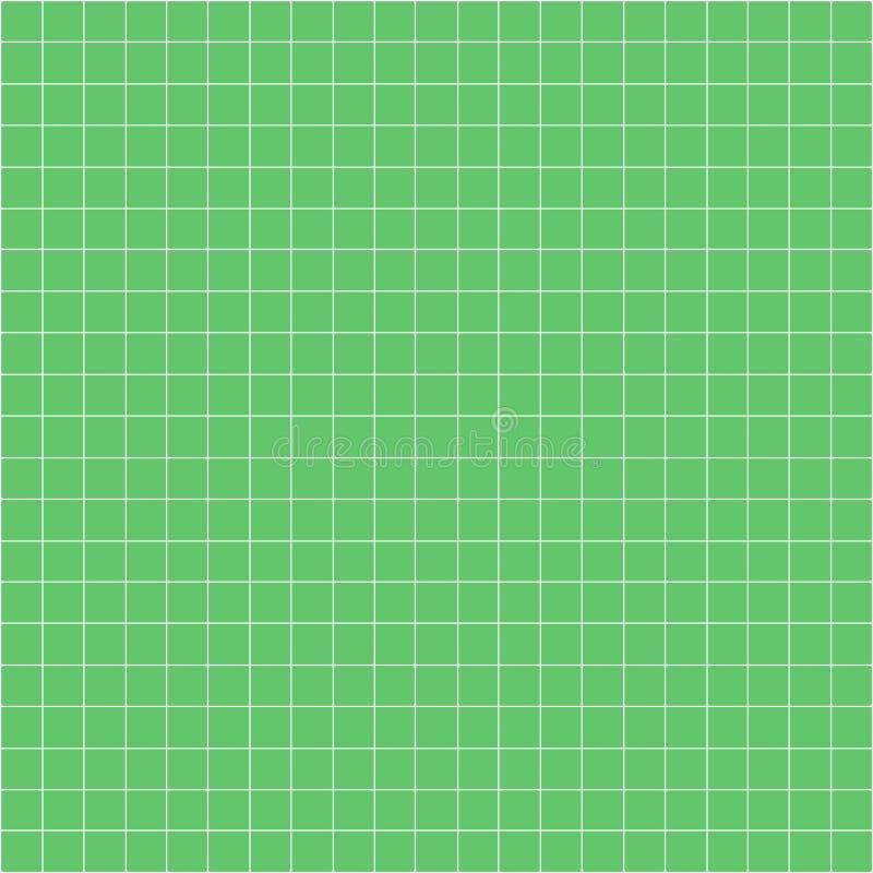 Siatka kwadrata wykresu linii pełna strona na zielonego papieru tle, papierowa siatka kwadrata wykresu linii tekstura nutowej ks ilustracja wektor