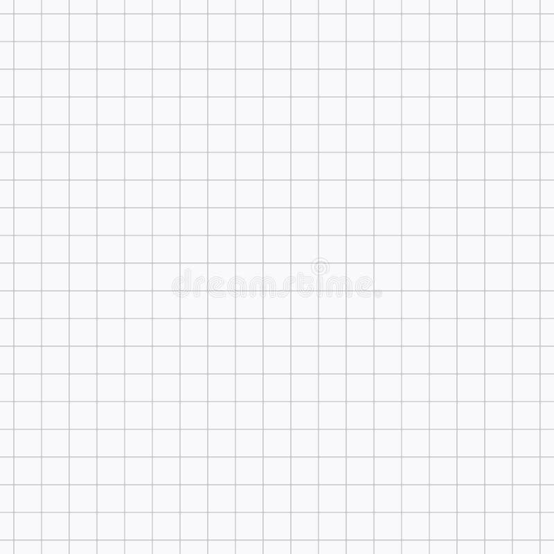 Siatka szary wektorowy bezszwowy wzór Jednakowy prześcieradło papier w komórkach Geometryczna powtarzalna prosta pasiasta tekstur ilustracji