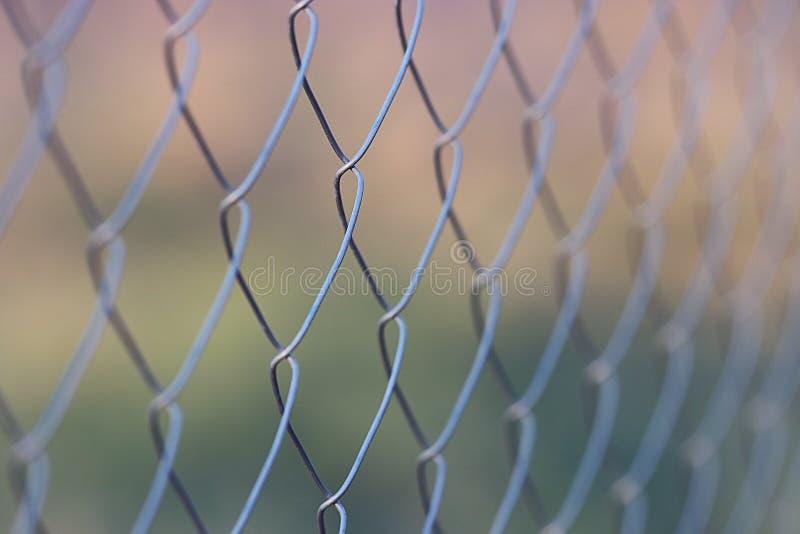 Siatkarstwo metalu ogrodzenie zdjęcia stock