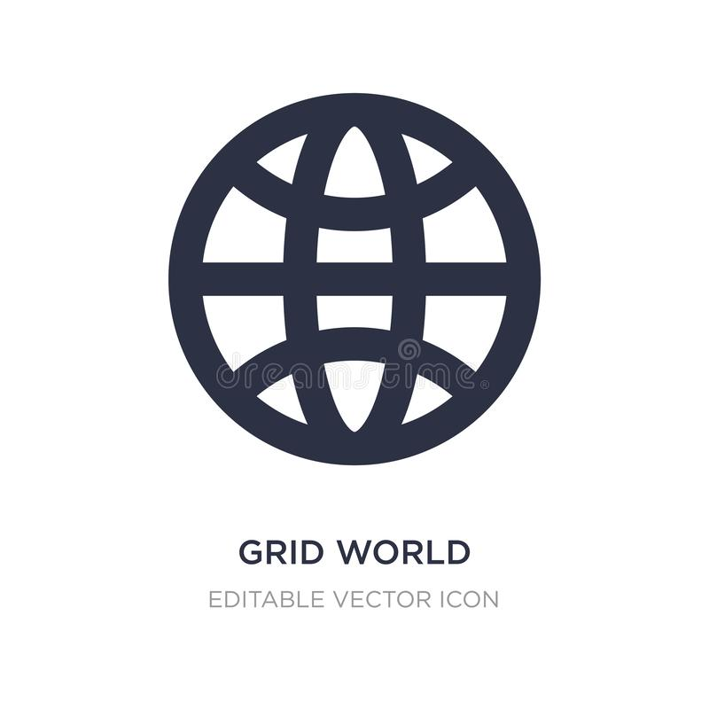 siatki światowa ikona na białym tle Prosta element ilustracja od znaka pojęcia ilustracji