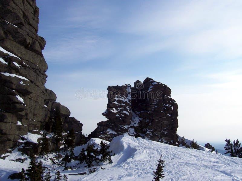 Sibéria, a força das montanhas fotos de stock royalty free