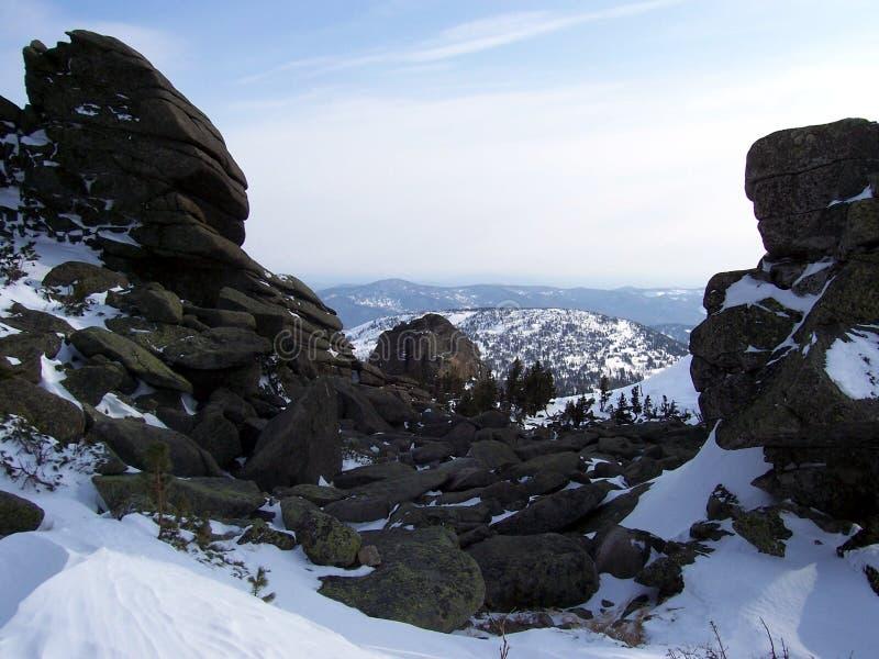 Sibéria, a força das montanhas foto de stock royalty free