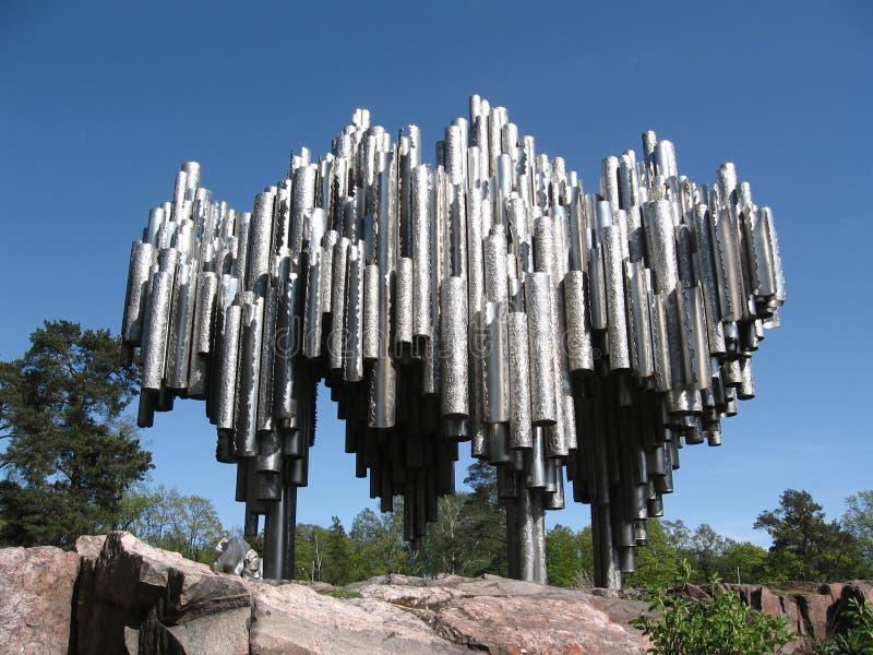 Sibelius-Monument in Helsinki stockfotos