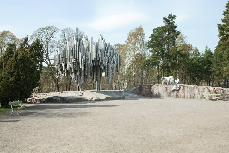 Sibelius Park & Monument stock images