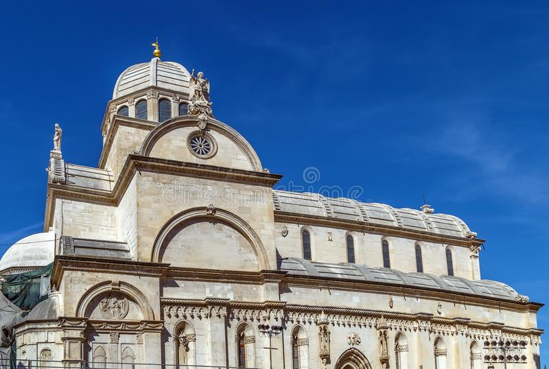 Sibenik Cathedral, Croatia stock photography