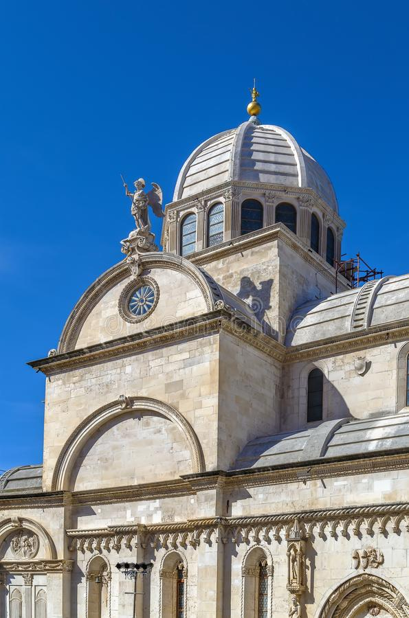 Sibenik Cathedral, Croatia royalty free stock photography