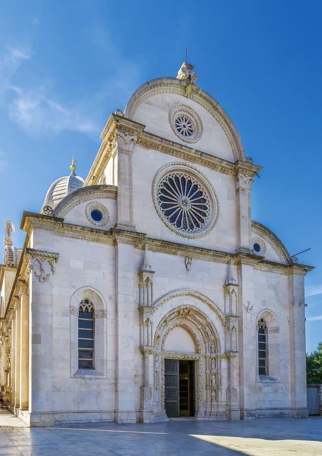 Sibenik Cathedral, Croatia stock images