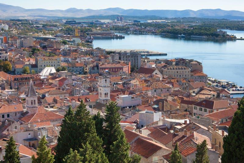 Sibenik, Croacia, ciudad vieja fotografía de archivo libre de regalías