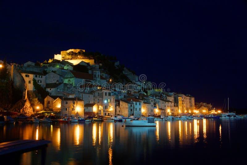 Download Sibenik night stock image. Image of house, dark, harbor - 29862515
