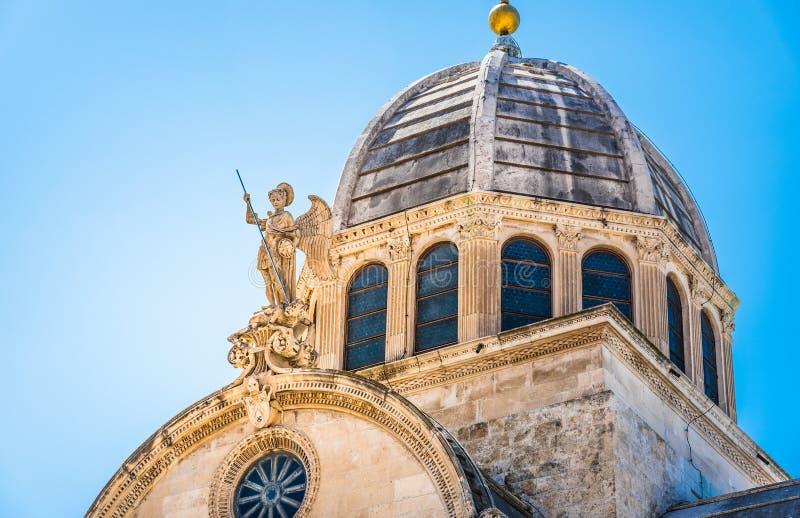 Sibenik, de Kathedraal, Kroatië royalty-vrije stock foto