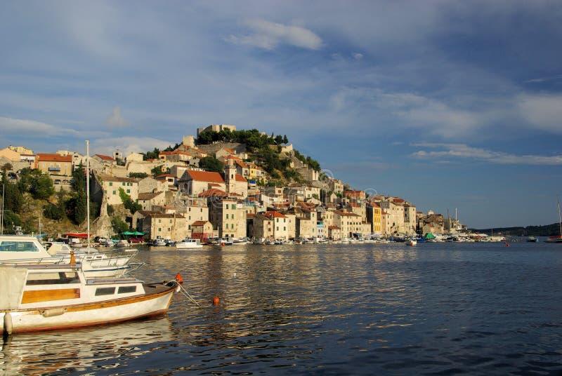 Download Sibenik harbor stock photo. Image of mediterranean, sibenik - 11405436