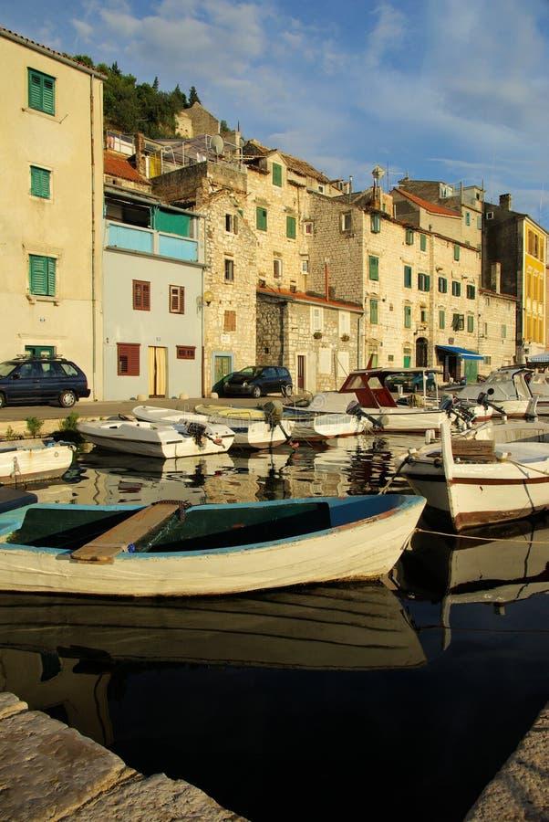 Sibenik Hafen stockfoto