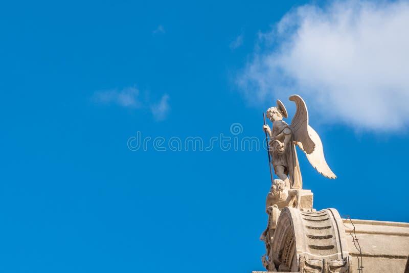 SIBENIK Kroatien-Maj 26,2017: St James domkyrka i Sibenik, UNESCOvärldsarv i Kroatien Sibenik domkyrkan, Kroatien royaltyfri foto