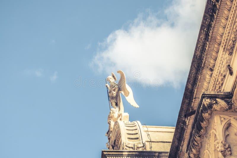 SIBENIK Kroatien-Maj 26,2017: St James domkyrka i Sibenik, UNESCOvärldsarv i Kroatien Sibenik domkyrkan, Kroatien royaltyfria bilder