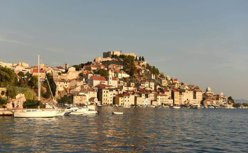 Sibenik oude stad, Kroatië royalty-vrije stock afbeelding