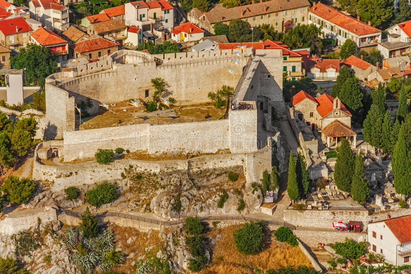 Sibenik St. Michael forteca obraz royalty free