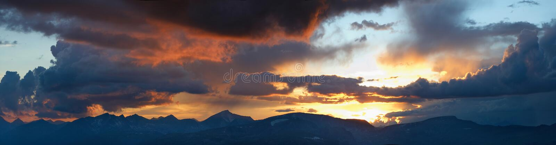 Siberia. Altai. Skyline Of The Mountains. Panorama Royalty Free Stock Photo