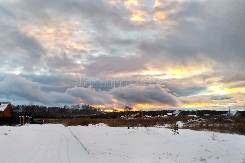 Siberian vinterby arkivfoton