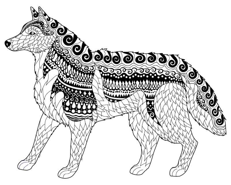 Siberische schor met hoge details stock illustratie