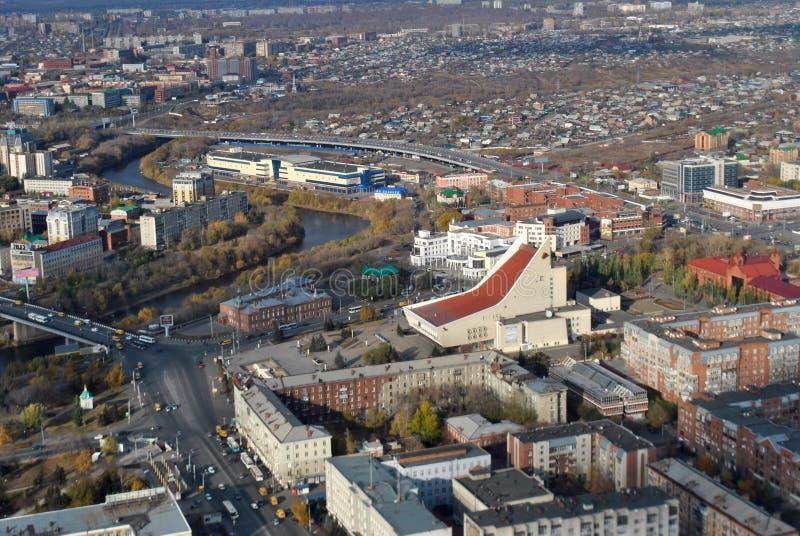 Siberische stad royalty-vrije stock afbeeldingen
