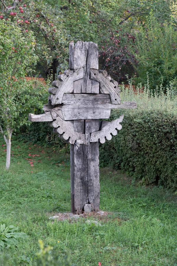 SIBIEL, TRANSYLVANIA/ROMANIA - 16 DE SETEMBRO: Vista de um c de madeira foto de stock