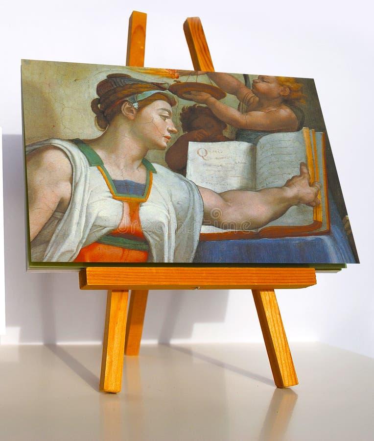 Sibilla dell'Eritrea dell'affresco di Michelangelo fotografie stock