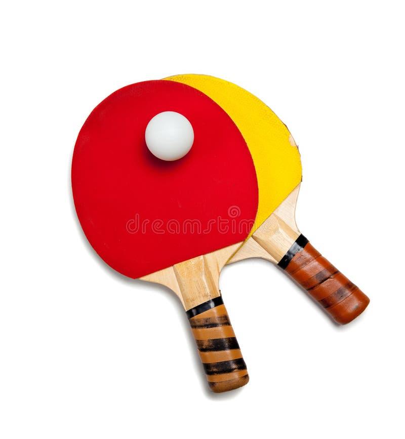 Sibilo Pong ou equipamento do tênis de tabela fotografia de stock royalty free