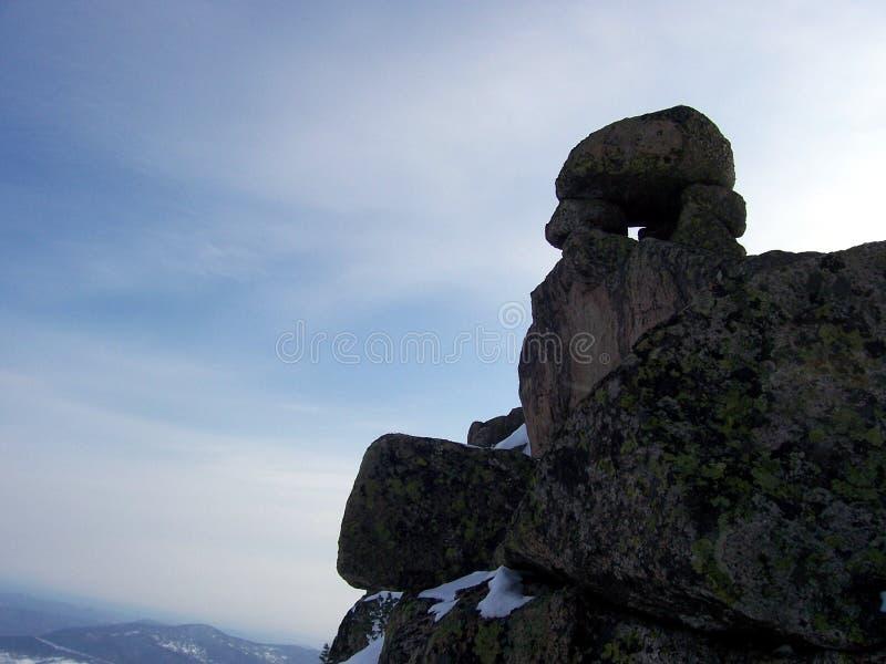 Sibirien styrkan av bergen royaltyfri fotografi