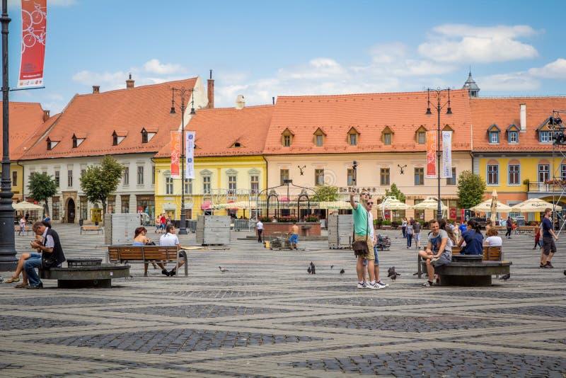 Sibiu, φοράδα Piata στοκ εικόνα με δικαίωμα ελεύθερης χρήσης