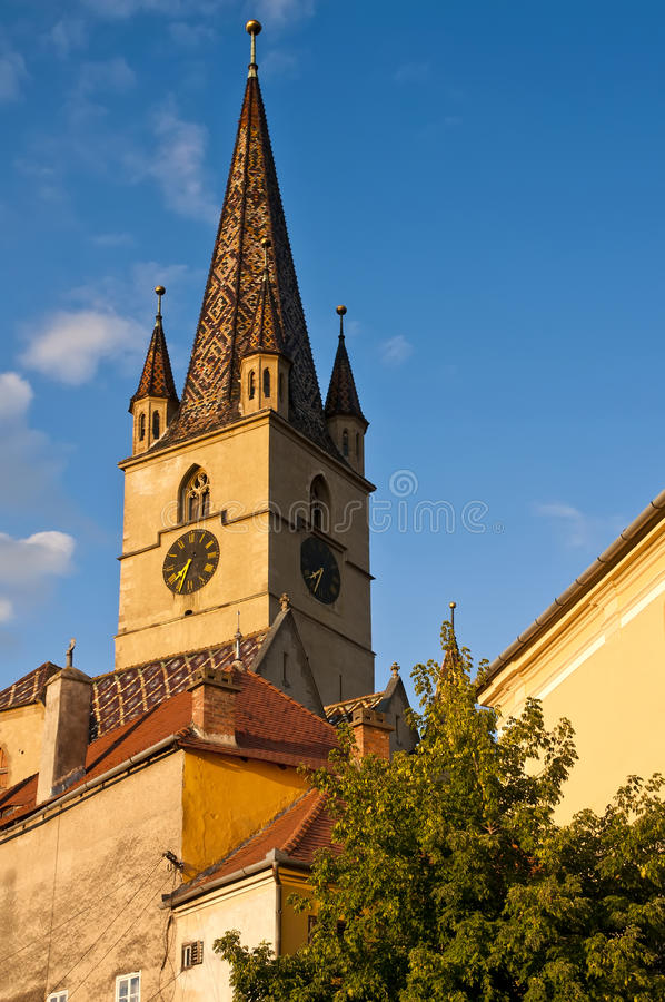 Download Sibiu stock image. Image of reformed, blue, europe, romanian - 16975713