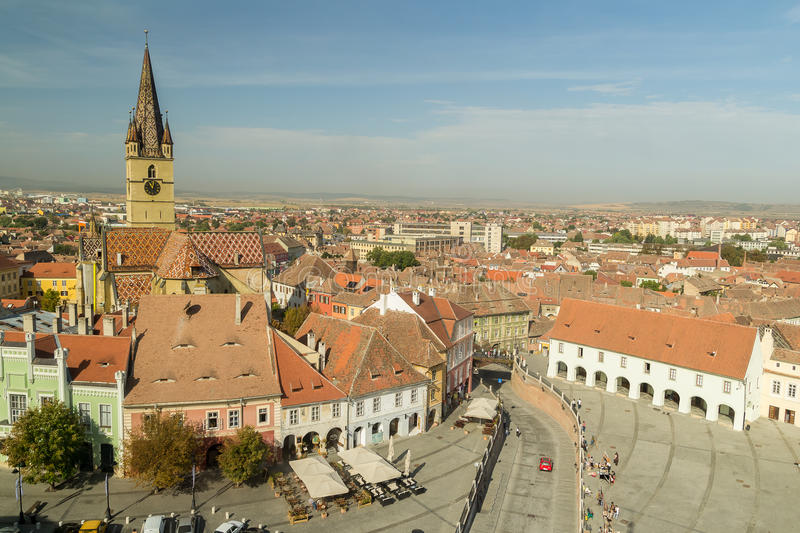 Download Sibiu Cityscape stock image. Image of historic, central - 26906025