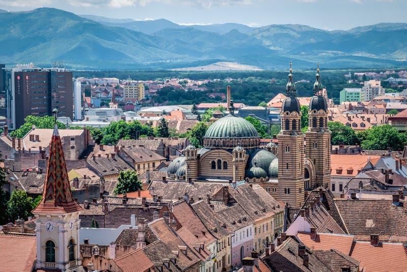 Sibiu en Rumania fotografía de archivo libre de regalías