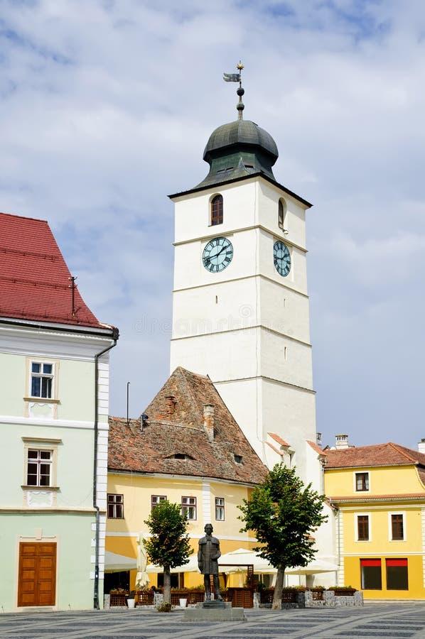 Sibiu, europäische Hauptstadt von Kultur 2007 lizenzfreies stockfoto