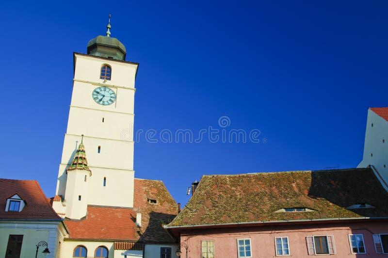 Sibiu, europäische Hauptstadt von Kultur 2007 stockfotografie