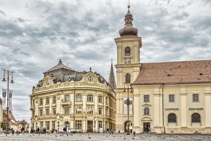 Sibiu - The Grand Square stock photos