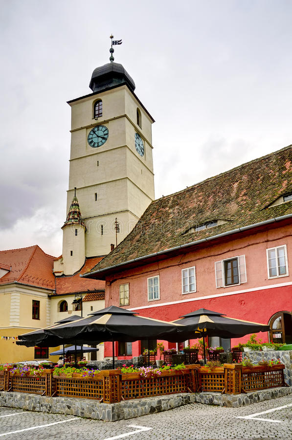 Sibiu (Hermannstadt) in Transylvania royalty free stock photography