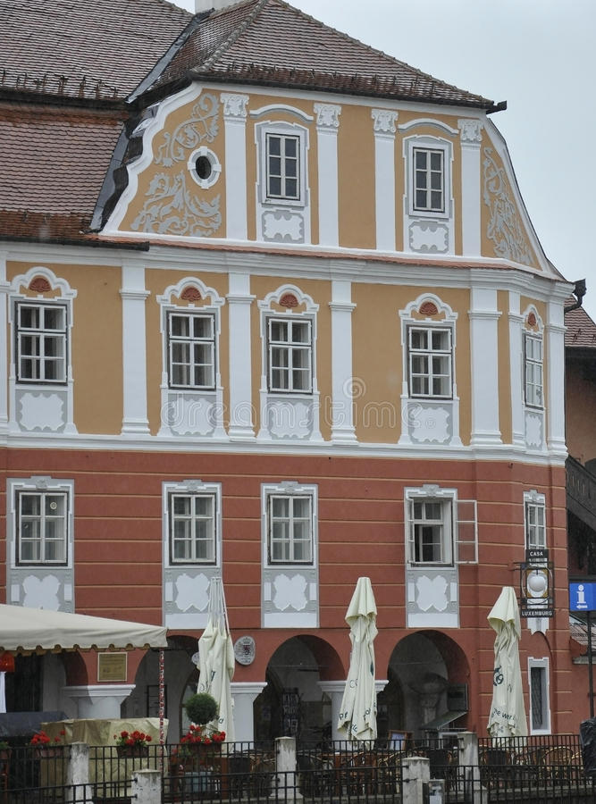 Sibiu,June 16:Historical House from Downtown of Sibiu Romania. Historical House from Downtown of Sibiu Romania on june 16 2015 royalty free stock photography