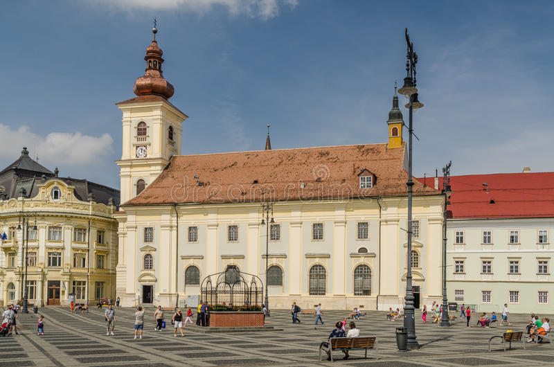 Sibiu Main Square royalty free stock photo