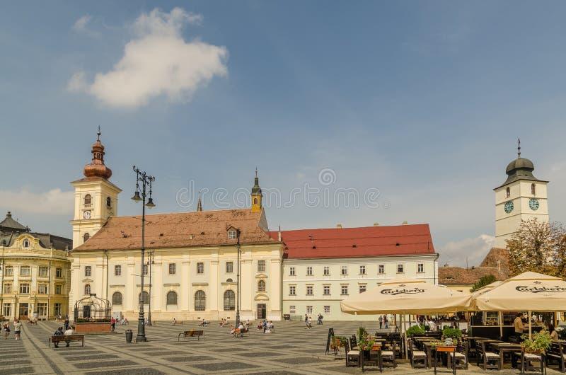 Sibiu Main Square stock image