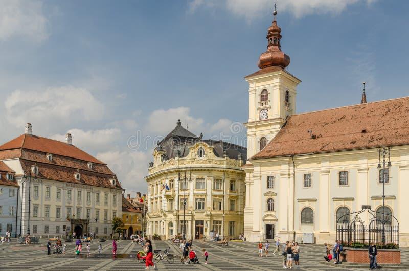 Sibiu Main Square royalty free stock images