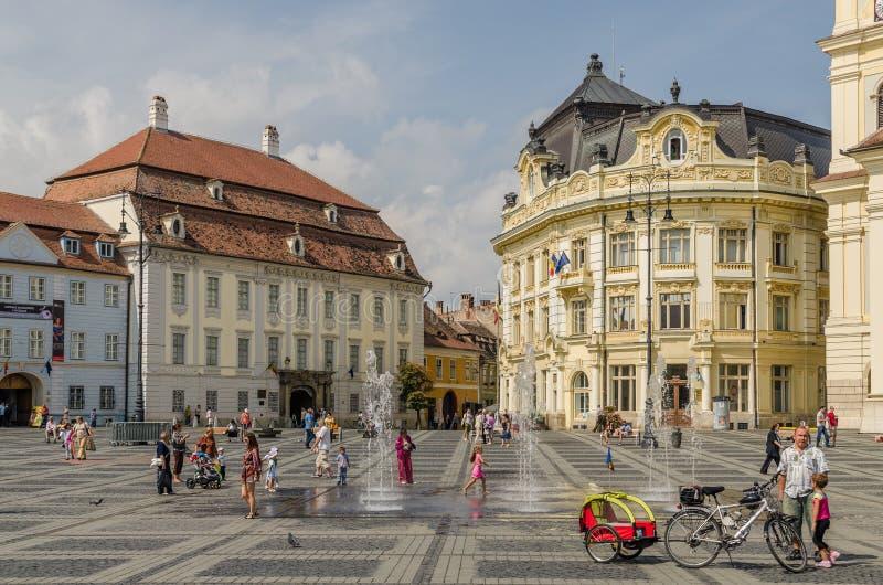 Sibiu Main Square stock photo
