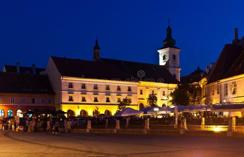 Sibiu - night view royalty free stock image