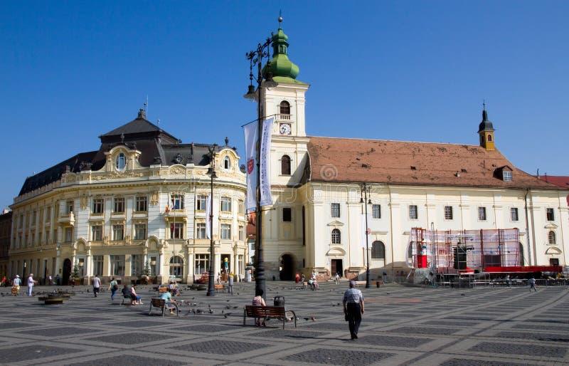 Sibiu-Piata Stute lizenzfreies stockfoto