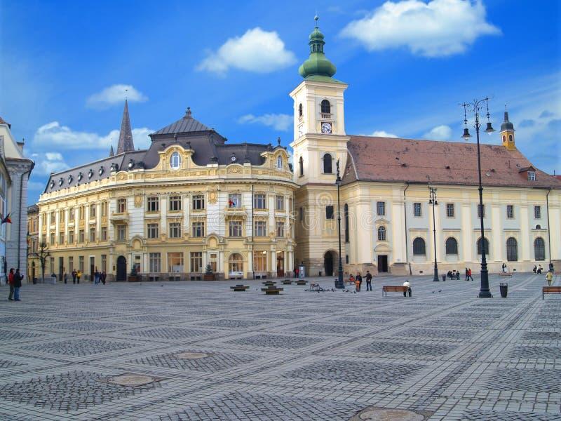 Sibiu plaza stock image