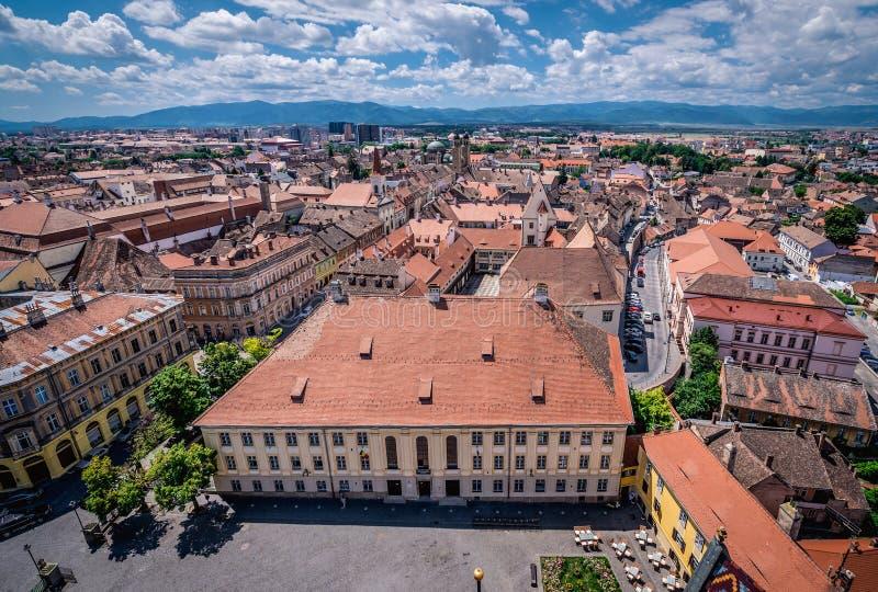 Sibiu in Romania fotografia stock