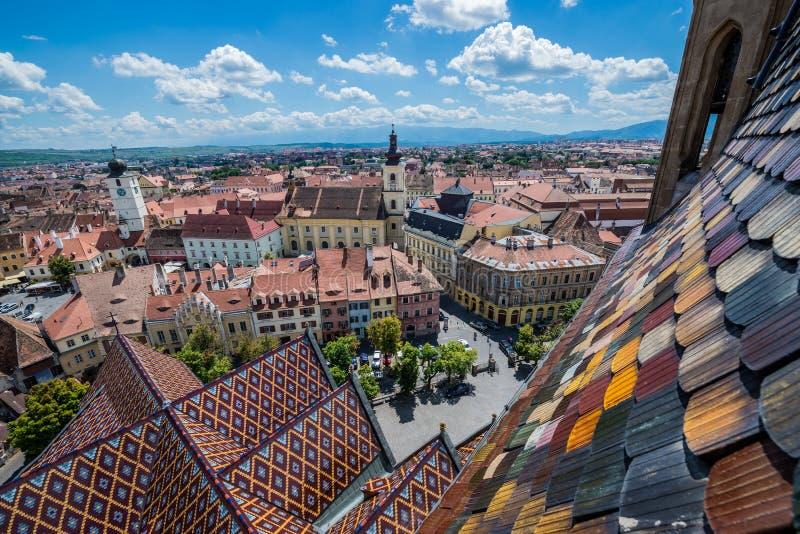 Sibiu in Romania royalty free stock photos