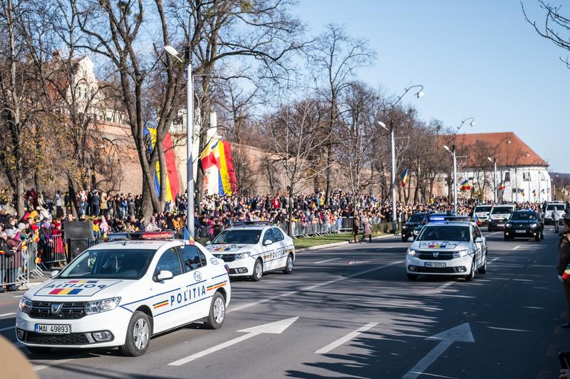 Military Parade on National Day of Romania royalty free stock image