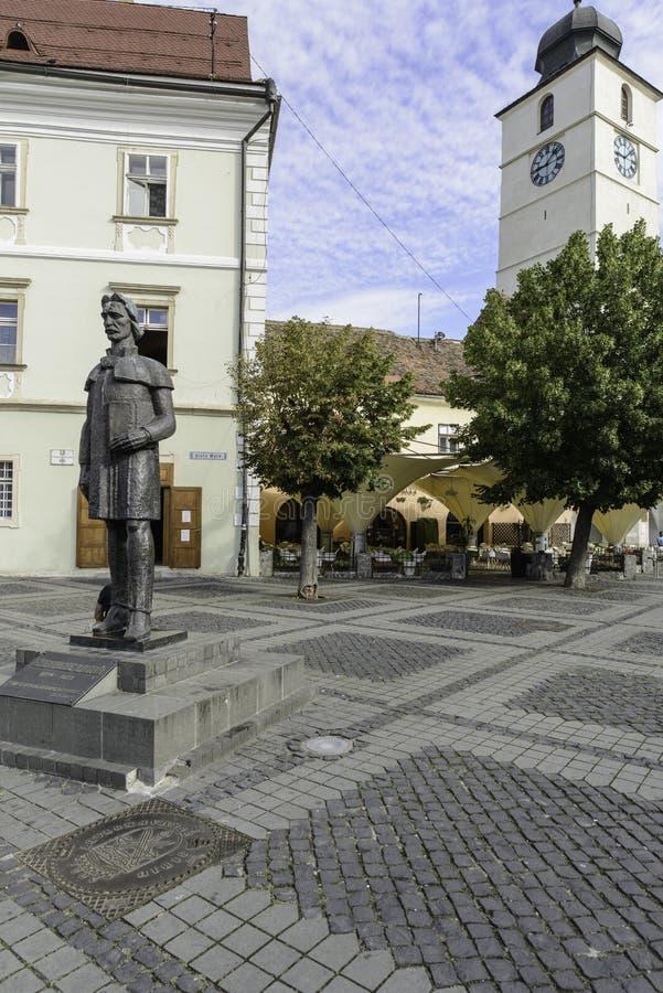 Sibiu, romania, Europa, o quadrado grande imagens de stock