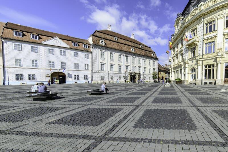 Sibiu, romania, Europa, o quadrado grande imagem de stock